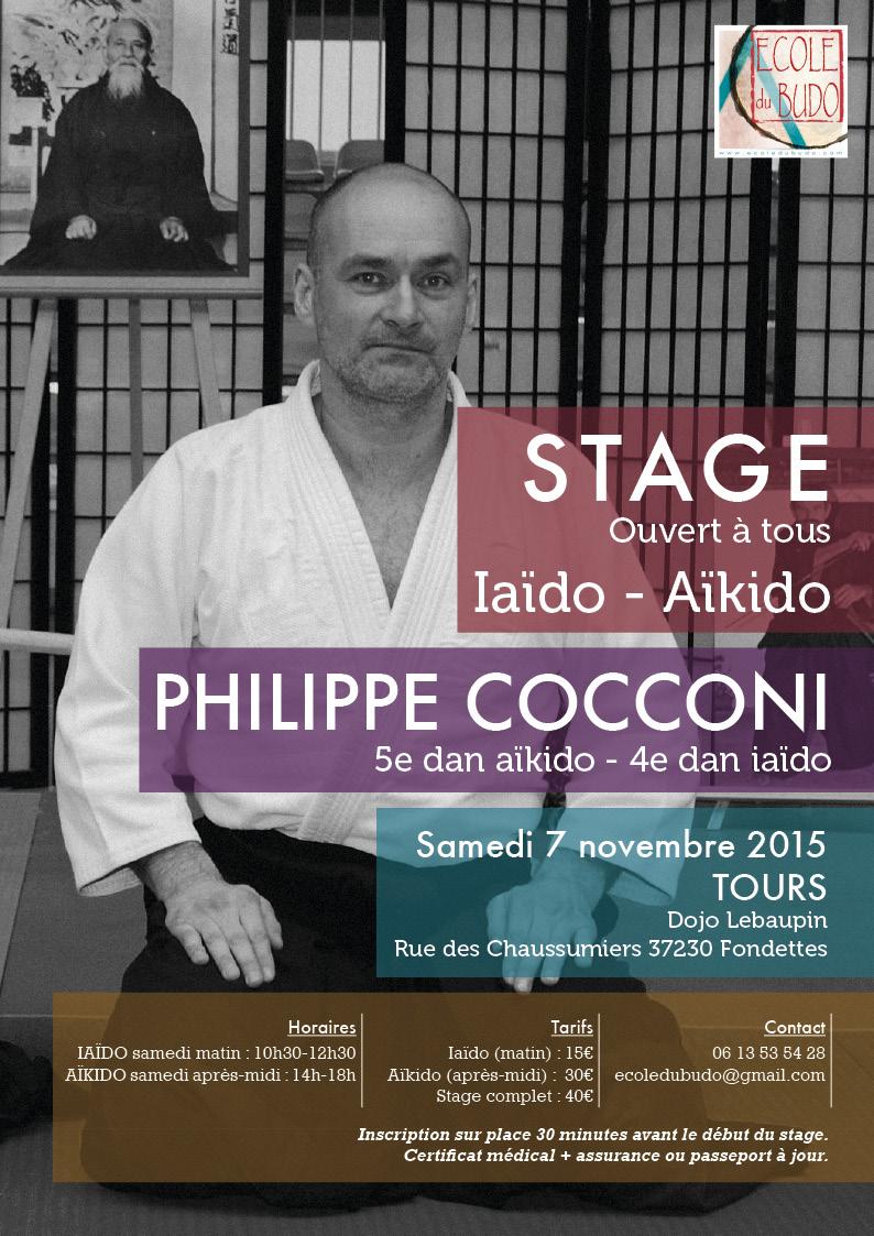 Affiche stage cocconi nov 2015