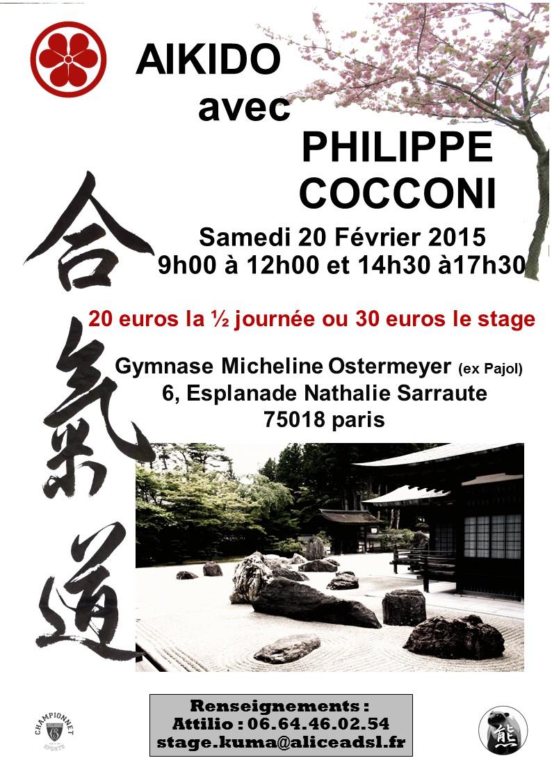 Stage aikido pc 20 fevrier paris